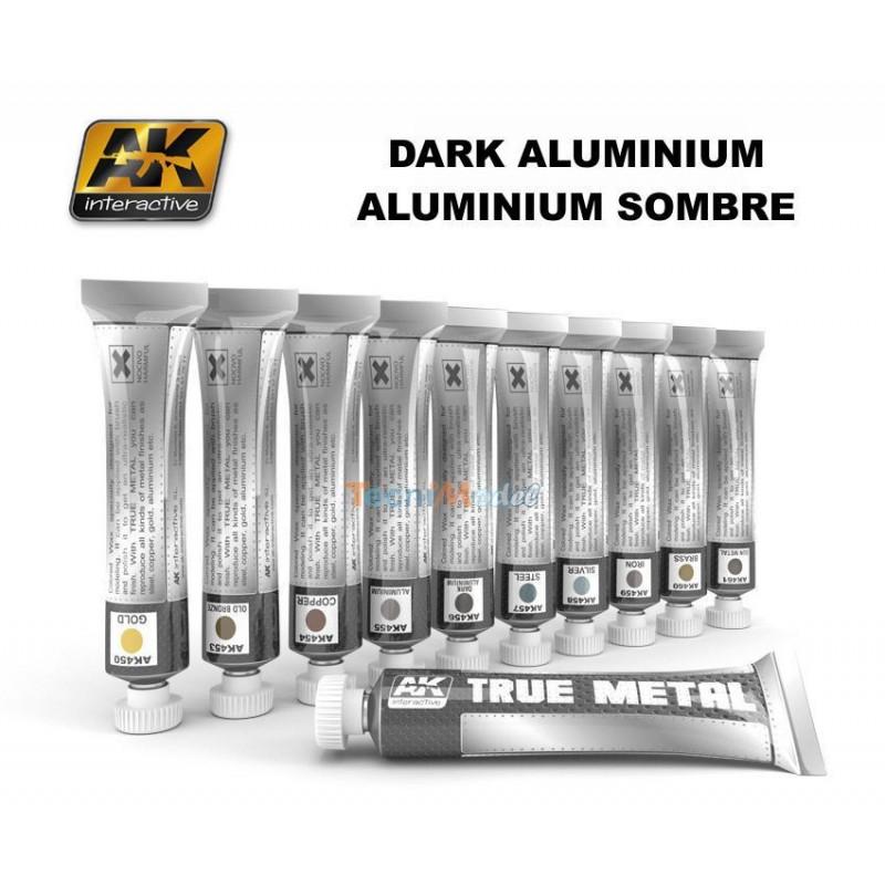 ak peinture effet m tal true metal dark aluminium. Black Bedroom Furniture Sets. Home Design Ideas