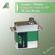 Micro Servo Numérique Coreless 9497 MG-D 8.6 Kg.cm (7.4v)