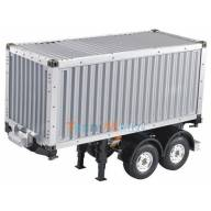 Remorque et conteneur 20 pieds 1/14 pour camions rc Tamiya