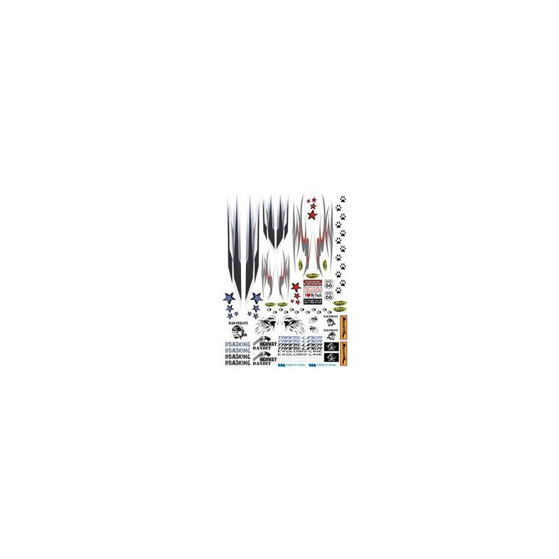 Feuille d 39 autocollants d coratifs ref carson 500907085 for Autocollants decoratifs