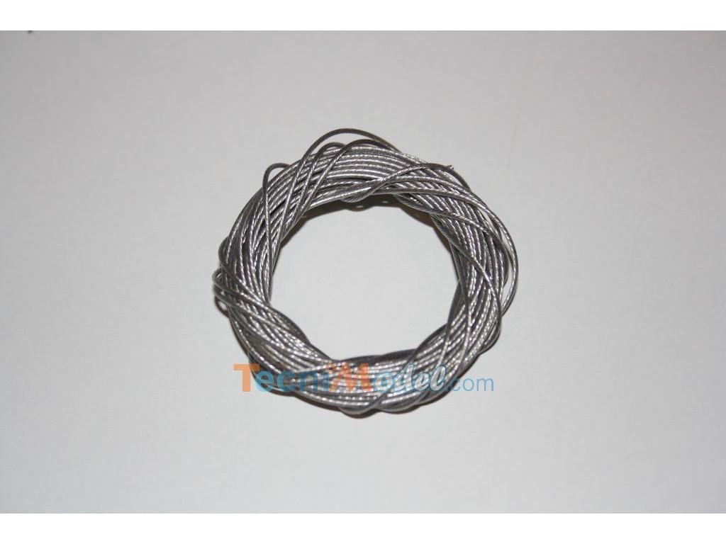 cable acier inox 0 7mm 5 m tres. Black Bedroom Furniture Sets. Home Design Ideas