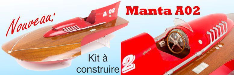 Bateau de sport MANTA en kit à monter