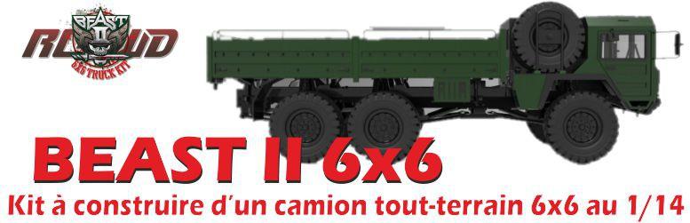 Kit de camion tout-terrain 6x6 au 1/14