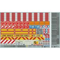 Planche d'adhésifs pour camions rc 1/14 et remorques