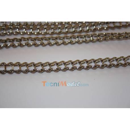 1m Chaîne métal type Vaucanson 7.1 mm de large