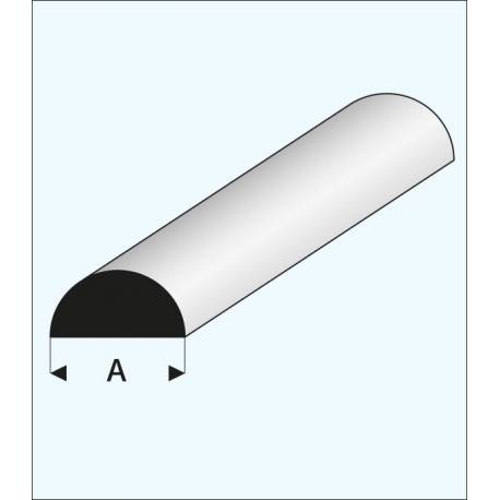 profil plastique blanc 1 2 rond 3mm a2pro 240156. Black Bedroom Furniture Sets. Home Design Ideas