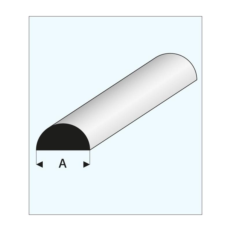 profil plastique blanc 1 2 rond a2pro 240157. Black Bedroom Furniture Sets. Home Design Ideas