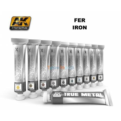 AK Peinture effet métal TRUE METAL IRON