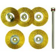 5 Brosses en laiton - disques Ø 22 mm
