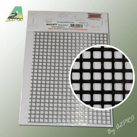 1 Grille aluminium 200x140x1,20mm maille de 5,00mm