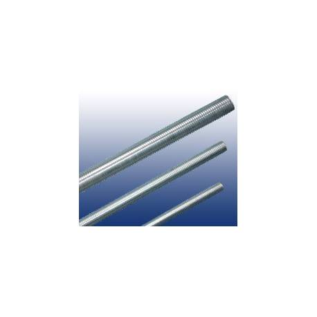 Tige filetée M2 Acier 4.6 Zinguée blanc DIN 975