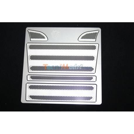 Grille métal couleur Argent pour Calandre Scania Tamiya Lesu K-1601-A