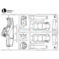 Grappe L intérieur de cabine Arocs ClassicSpace 3363 1/14 Tamiya 9115455