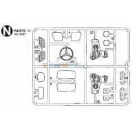 Grappes N et W pièces chromées Arocs 1/14 Tamiya 9115457