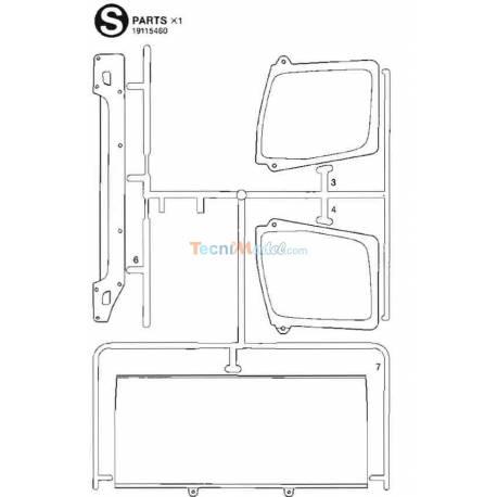 Grappe S Vitrage Arocs ClassicSpace 3363 1/14 Tamiya 9115460