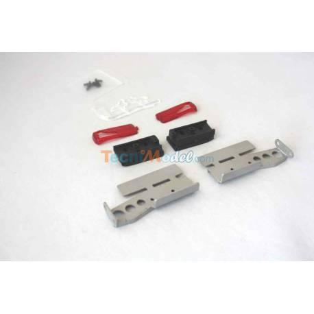 Feux arrières et supports en métal pour camions Tamiya LESU G-6099