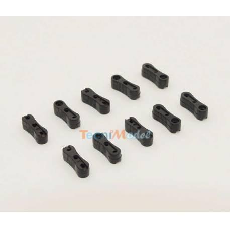 10 Tendeurs 3 trous pour voiliers, en plastique noir JOYSWAY 881210
