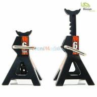 2 Chandelles réglables en métal 1/10 - 1/14 THICON MODELS 20087
