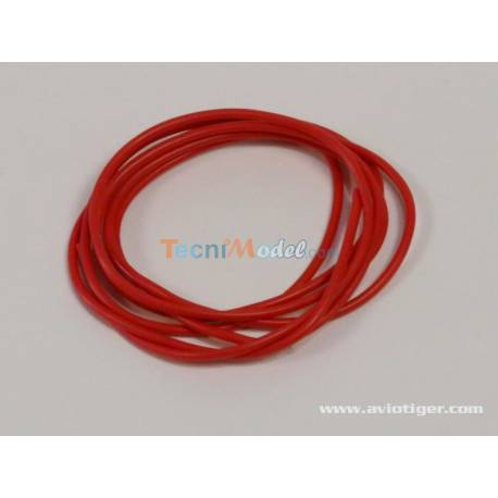 Câble silicone 0.5mm² rouge AWG20 1m
