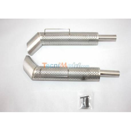 2 Echappements verticaux en métal LESU G-6038-B