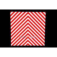Adhésif rétroréfléchissant rayures rouge/blanc 200 x 200 mm
