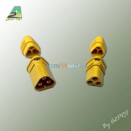 1 paire de Connecteurs 3 pôles MT30 OR mâle + femelle A2PRO 14233