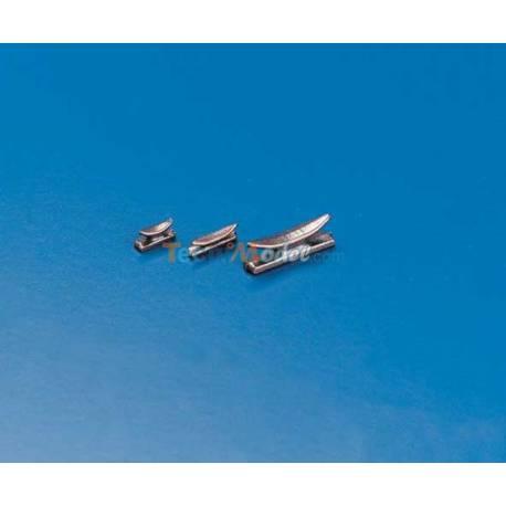 10 Taquets 16mm en métal bruni KRICK 61693