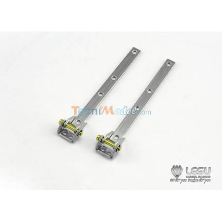 2 Articulations de ridelles droites en métal LESU ZK10-1