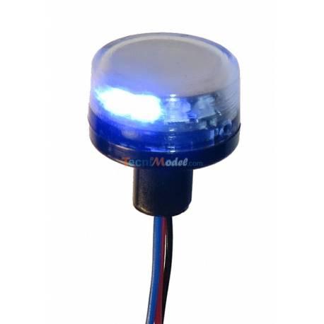 Gyrophare bleu Ø10mm PISTENKING RKLED-B
