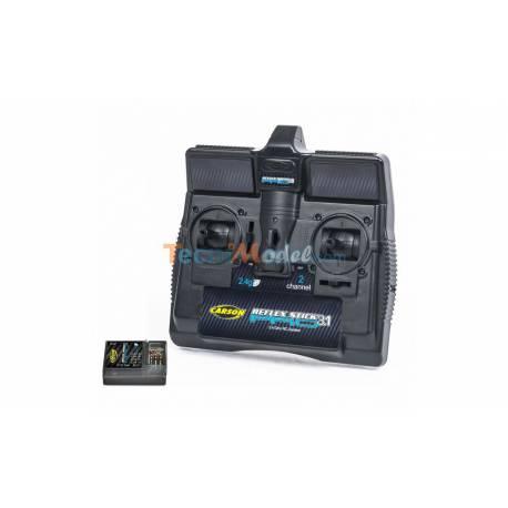 Radio Carson 2 voies Reflex Stick pro 3.1 2.4GHz CARSON 500500084