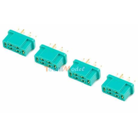 4 CONNECTEURS MPX MALE GFORCE GF-1004-002