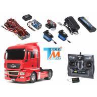Camion Tamiya MAN 4x2 56329 + Truck-Set Carson