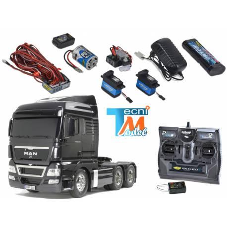 Camion Tamiya MAN TGX 6x4 56325 + Truck-Set Carson