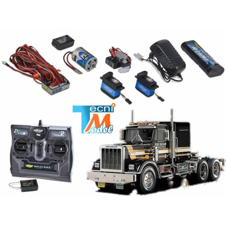 Camion Tamiya King Hauler Black Edition + Truck-Set Carson