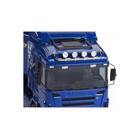 Rampe de feux haute pour Scania Tamiya en métal chromé Carson 907064