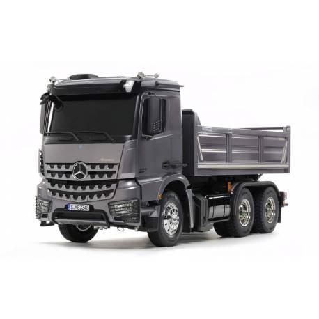 Camion Tamiya Mercedes Arocs 3348 benne 56357 avec levage, lumières et son (Pack Complet)