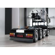 Pare-choc arrière en aluminium avec feux carrés pour camion européen 6x4 1/14 LESU S-1234