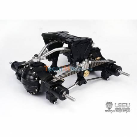 Kit de suspensions arrières métal renforcées réhaussé de 9mm LESU X-8015-A