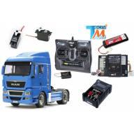 Pack complet MAN 4x2 bleu avec module lumières et son