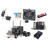 """Camion Tamiya Grand Hauleur """"Black Matte"""" avec module lumières et son (Pack complet)"""