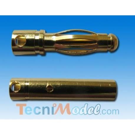 Connecteur Or 4mm male/femelle