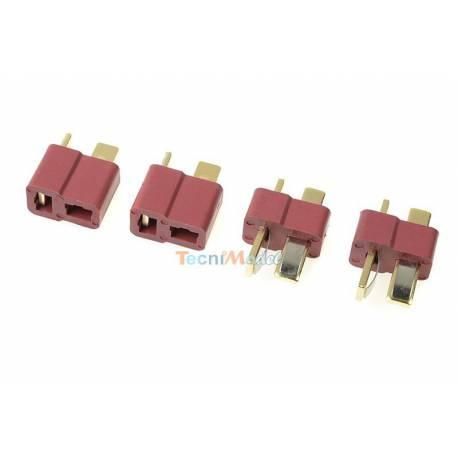 4 Connecteurs DEANS 2 Mâle + 2 Femelle