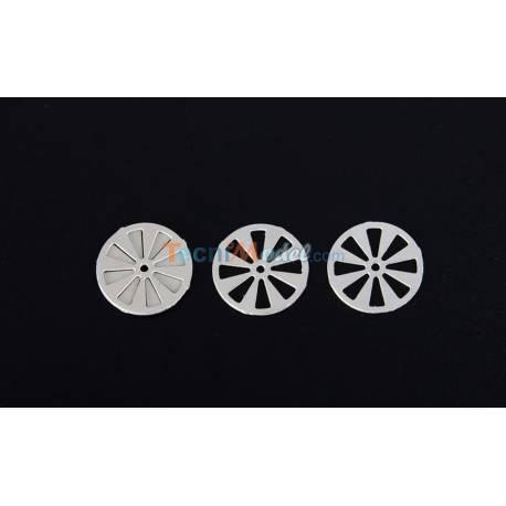 2 paires d'Aérateurs Ronds Ø18mm AERONAUT 572045
