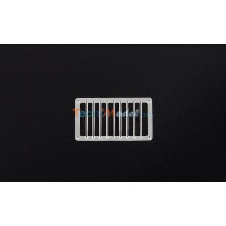 4 Grilles d'Aérations Rectangulaires 22x12.5mm AERONAUT 572033