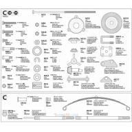 Sachat de pièces C pour Volvo 56360 TAMIYA 9403643