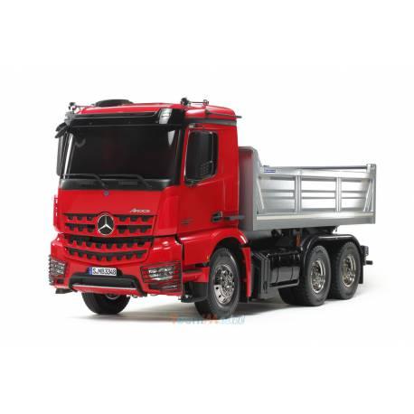 Camion Tamiya Mercedes Arocs 3348 benne 56361 version peint en rouge (Kit camion seul) TAMIYA 56361