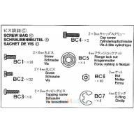 Sachet de vis C pour remorque fourgon 56302