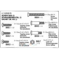 Sachet de vis B pour remorque fourgon 56302