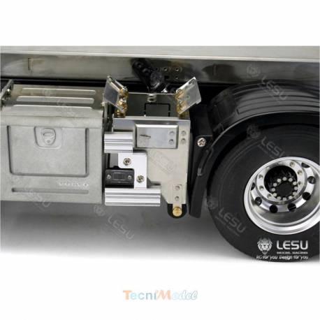 2 Caissons latéraux Inox pour camion RC Volvo 1/14 LESU G-6232