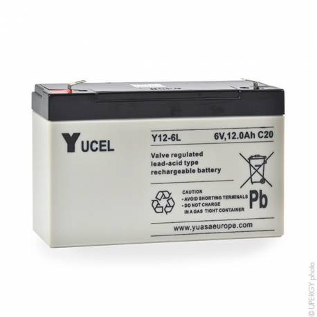 Batterie plomb YUCEL 6v 12Ah